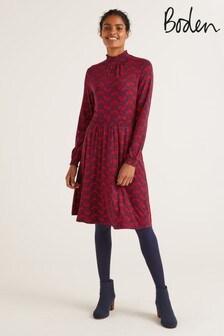 فستان جيرسيه Alice أحمر من Boden