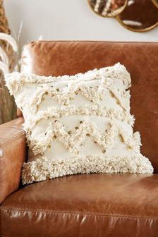 Kerala Tufted Embellished Cushion