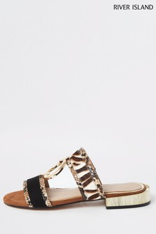 River Island Brown Sandals