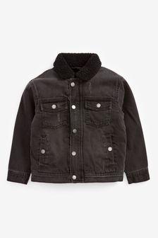 Borg Lined Denim Jacket (3-16yrs)