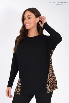 Live Unlimited Curve Jersey Top With Animal Print Back