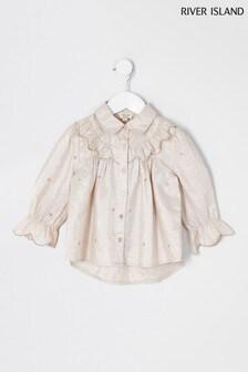 River Island Cream Lottie Shirt