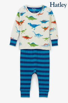 Hatley Cream Dino Herd Organic Cotton Baby Pyjama Set