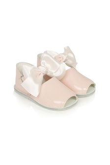 Baby Girls Pink Leather Shoes