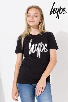 Hype. Holo Script Kids Crop T-Shirt