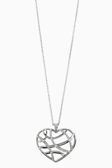 Jewelled Heart Pendant Necklace