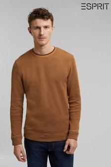 Esprit Brown Men Long Sleeve Sweatshirt