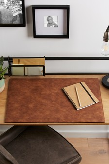 Faux Leather Desk Mat