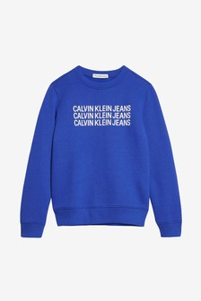 Calvin Klein Jeans Boys Triple Logo Sweatshirt