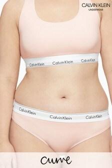 Calvin Klein White Modern Cotton Plus Thong