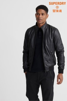Superdry Lightweight Leather Track Jacket