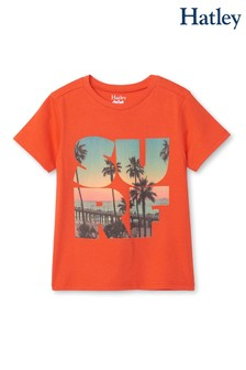 Hatley Orange Surf Graphic T-Shirt