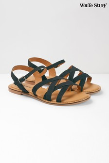 White Stuff Black Erika Sandal