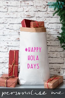 Personalised Happy Hola Days Christmas Sack by Jonny's Sister