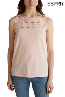 Esprit Orange Sweet Detail Top