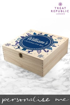 Personalised Snowflake Christmas Eve Box by Treat Republic