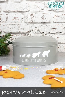 Personalised Polar Bear Family Cake Tin by Jonny's Sister