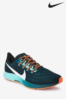 Nike Run Black/Blue Air Zoom Pegasus 36 Trainers