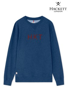 Hackett Blue HKT Logo Sweatshirt