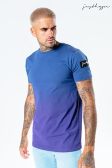Hype. Mens Blue Speckle Fade T-Shirt