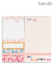 ban.do Pink Daisies Sticky Note Set