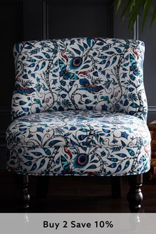 Rousseau Blue Langley Chair By Emma Shipley