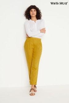 White Stuff Yellow Maison Linen Trousers