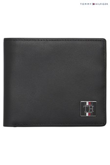 Tommy Hilfiger Black Plaque Mini Wallet