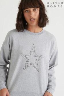Oliver Bonas Grey Star Motif Sweatshirt