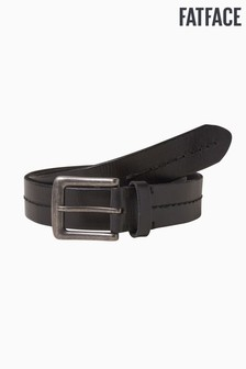 FatFace Black Stab Stitch Leather Belt