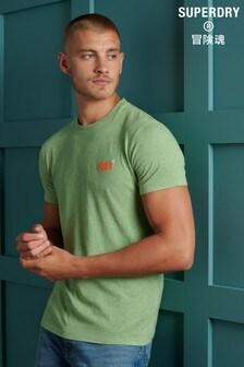 Superdry Orange Label Green Vintage Embroidery T-Shirt