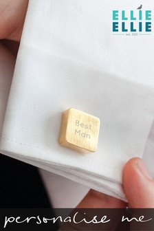 Personalised Wedding Square Cufflinks by Ellie Ellie