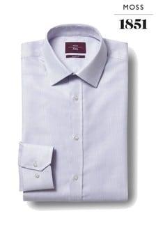 Moss Esq. Regular Fit Lilac Single Cuff Dobby Non Iron Shirt