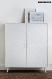 Moritz 4 Door Cabinet White by Julian Bowen