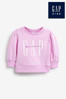 Gap Lavender Logo Sweat Top