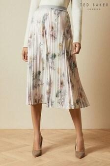 Ted Baker Pink Maziiy Woodland Pleated Midi Skirt
