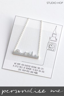 Personalised London Skyline Necklace by Studio Hop