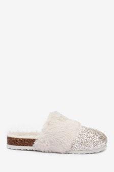 Glitter Mule Slippers