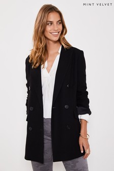 Mint Velvet Black Textured Blazer