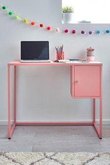 Bright Flamingo Desk