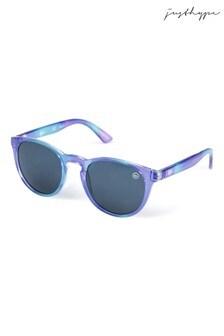 Hype. Purple Gloss Round Sunglasses