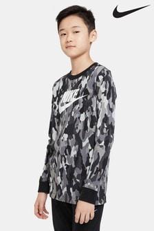 Nike Camo Long Sleeve T-Shirt