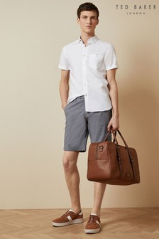Ted Baker Blue Corto Semi Plain Cotton Shorts