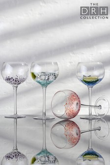 Set of 4 Speckle Gin Glasses By The DRH Collection