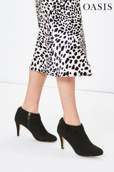 Oasis Black Bow Shoe Boots