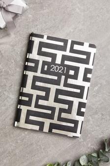 A5 Bold Geo Print Diary