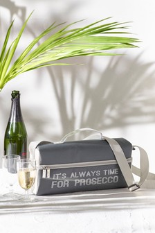 Prosecco Time Cooler Shoulder Bag Pink With 2 Cups
