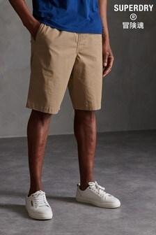 Superdry Light Brown Worldwide Chino Shorts