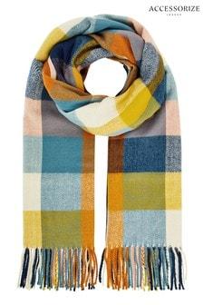 Accessorize Multi Sadie Oversized Check Blanket
