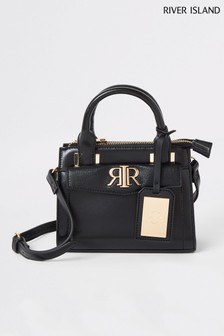 River Island Black Mini Tote Bag
